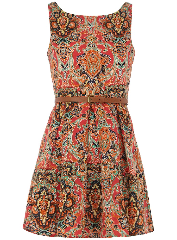 I must have this dress!! :) what a fantastic print for fall with a great pair of booties