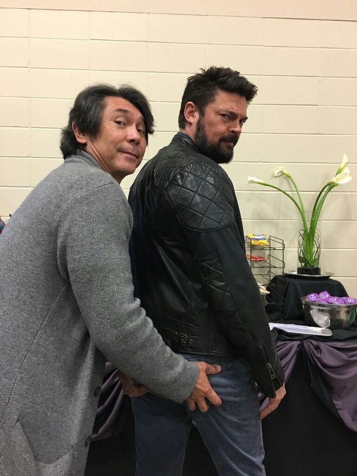 Lou Diamond Phillips and Karl Urban at Alamo City Con. 5. 27. 2017