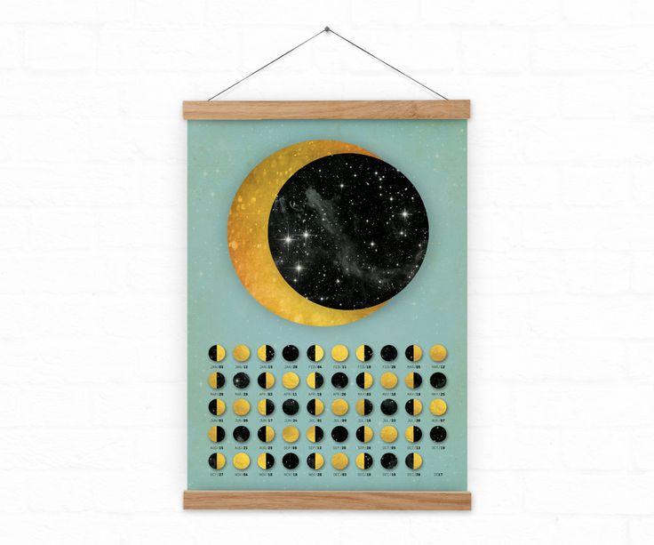 2017 Wall moon calendar Lunar