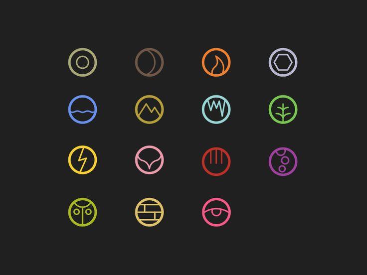 Elements as Icons by Rayniel Estrella