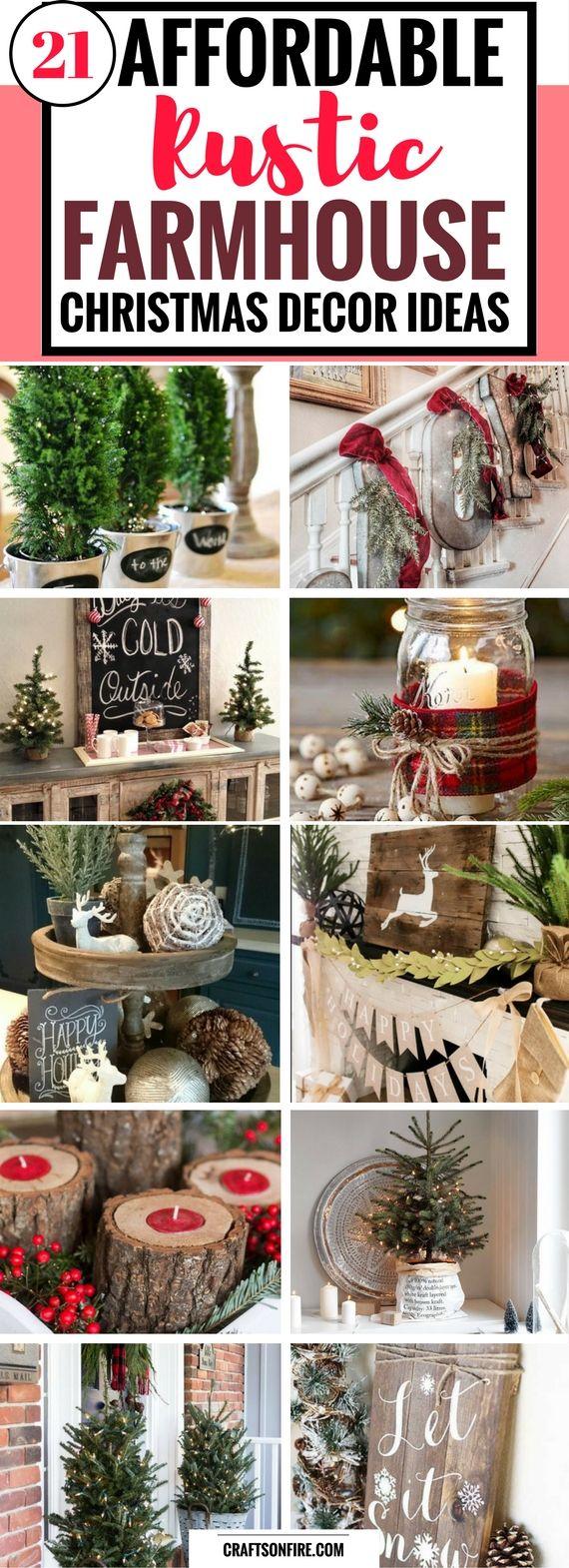 21 Affordable Rustic Farmhouse Christmas Decor Ideas Craftsonfire Farmhouse Christmas Decor Christmas Decorations Christmas Diy