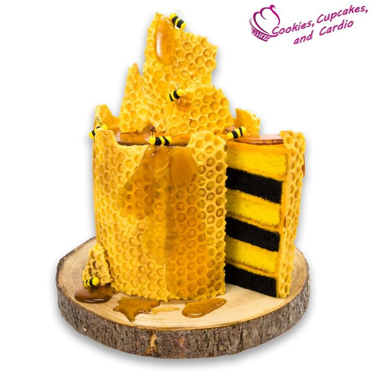 How to make a honeycomb bee cake