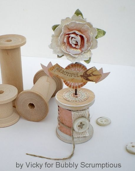 spool card: Crafty Stuff, Crafts Ideas, Spools Crafts, Crafty Things, Wooden Spools, Spools Cards, Great Ideas, Cards Diy, Altered Art