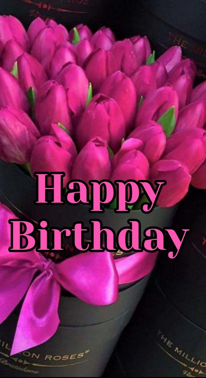 Happy birthday tulips card birthday wishes flowers free