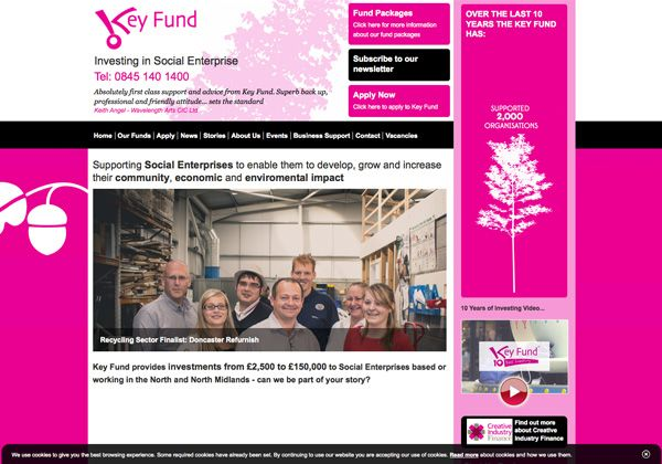 Key Fund Web Design Sheffield