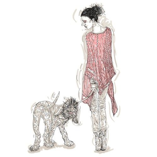 "Design di Series of mini ""Ways to Wear"" fashion illustrations for Women's Luxury…"