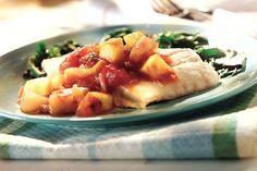 El dulce y fresco sabor del mango bañará del más puro sabor tropical a este platillo de huachinango (pargo rojo) al horno.