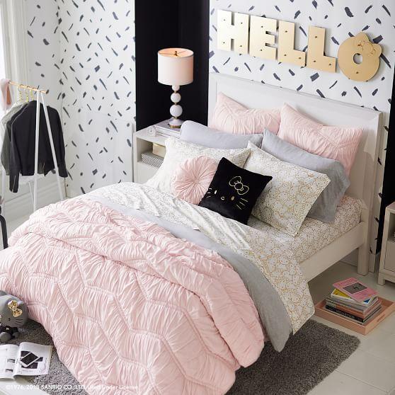 Hello Kitty Metallic Sheet Set In 2019 Bedroom Decor Diy - Teen-bedroom-furniture-collection