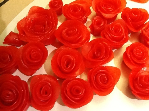 Fruit roll up roses!!
