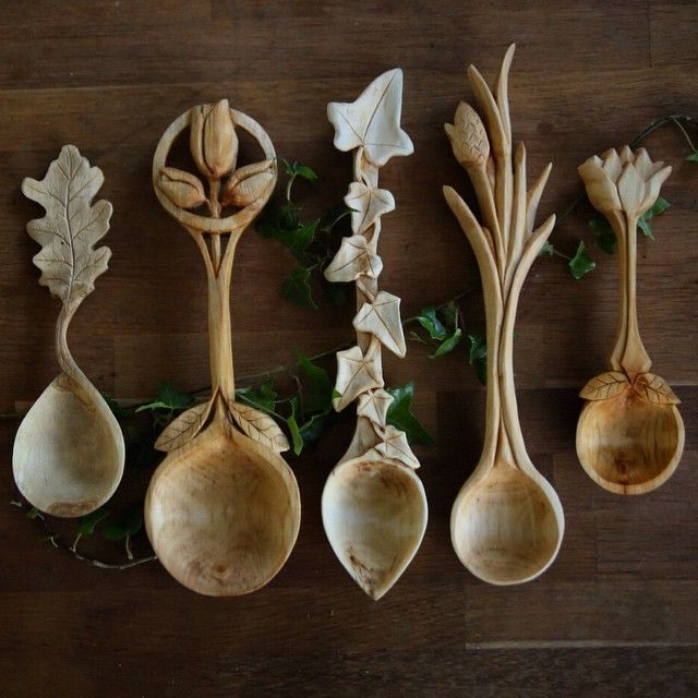 Amazing woodcarved spoons by Giles Newman. He resides in northern Wales. Find his work on instagram and etsy.