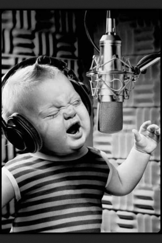 Belting it out Baby!