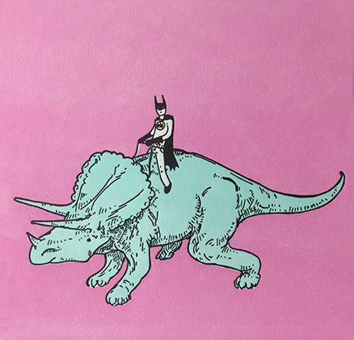 nevver: Batman on a dinosaur, Joe Carr / Mydeadpony