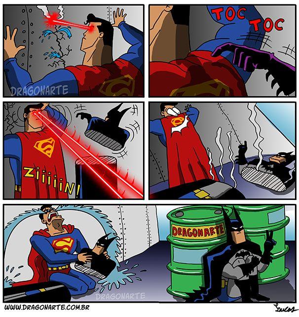 """Superman kills FAKE Batman with his ""deadly heat-vision"""""