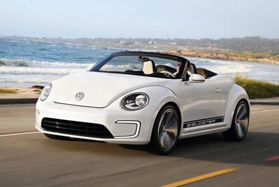 this is when i wanna go...topless :D  Volkwagen e-Bugster Speedster Concept 2013