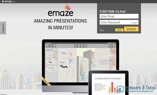 Emaze : un service en ligne gratuit pour créer facilement des présentations et remplacer PowerPoint http://freewares-tutos.blogspot.fr/2013/07/emaze-un-service-en-ligne-gratuit-pour.html