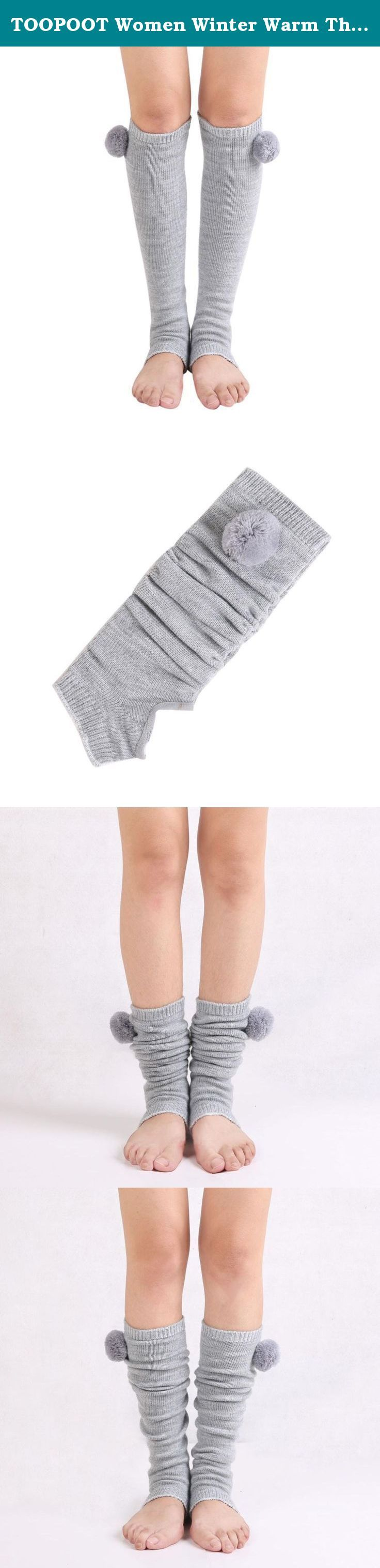 TOOPOOT Women Winter Warm Thigh High Yoga Socks Boot Cover (gray). ★★ Care: Hand wash cold and lay flat to dry Soft and comfortable ★★ We love them with rain or ankle-length boots. ★★if you are women, you could buy it for yourself, your monter, your daugther, and so on, if you are men, you could buy it for your wife, your mother, your gir friends, your duagher, and so son, They will love it, Package: 1 pair Womens Winter Thigh High Stockings Socks(Without Retail Packaging).