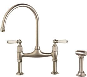 Franke Manor House Two Handle Kitchen Faucet With Side Spray