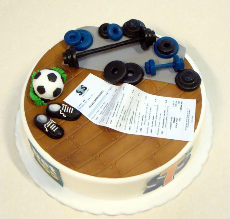 Torty dla dorosłych - Cukiernia Gateau Tort dla sportowca #sportowiec #urodziny #cake, #tort, #silownia www.cukierniagateau.pl