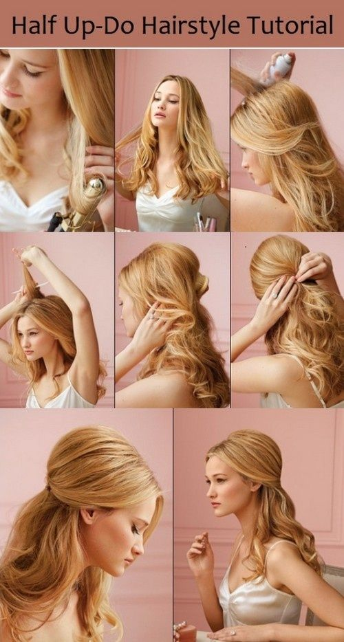 Half Up-Do Hairstyle Tutorial..