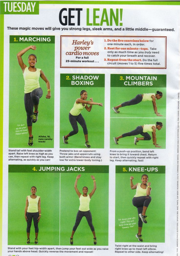 Health and Fitness: Days of the Week Workouts!