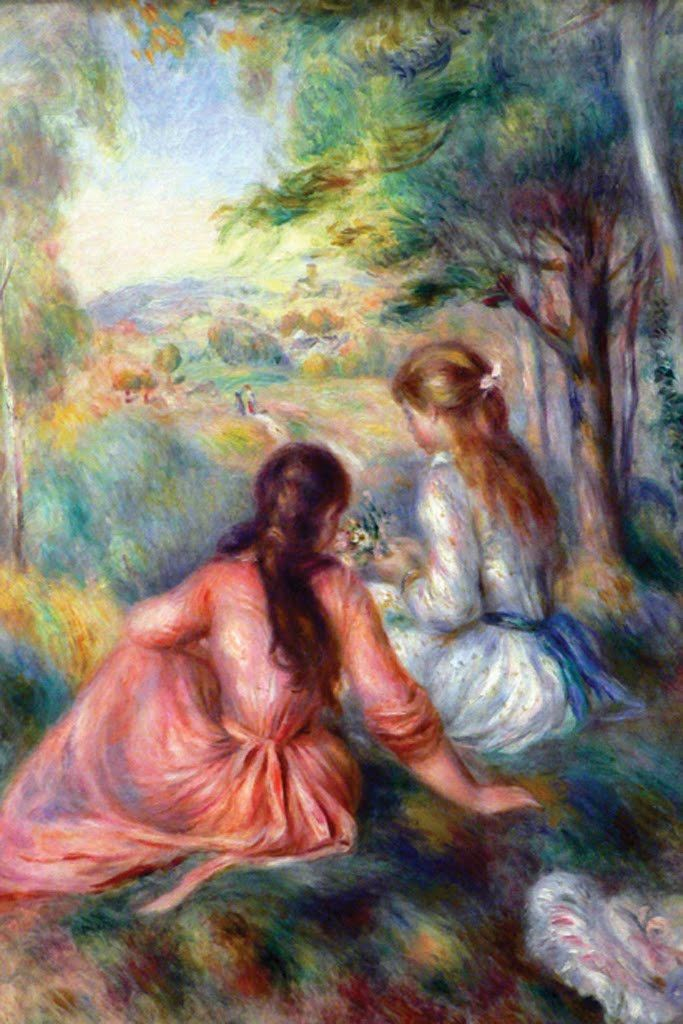 In the Meadow, by Pierre-Auguste Renoir
