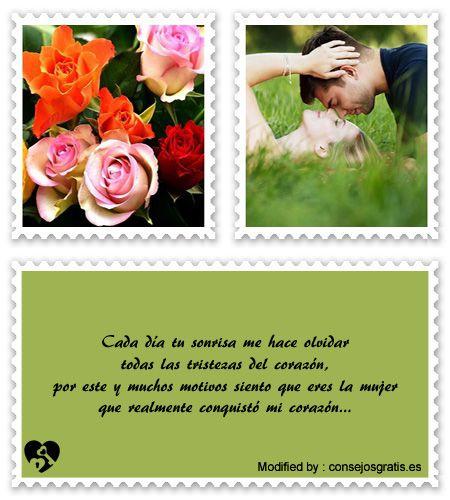 descargar frases de amor para mi enamorada,textos bonitos de amor para enviar a mi novia por whatsapp : http://www.consejosgratis.es/lindos-mensajes-de-amor-para-mi-novio/