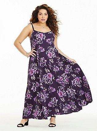 552004c89b4 Plus Size Floral Challis Maxi Dress (Short Inseam Now Available ...