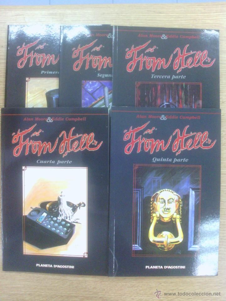 FROM HELL COLECCION COMPLETA (5 TOMOS) $22