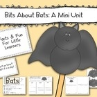 Perfect for the week ahead:  A mini unit for mini learners! Kindergarten Common Core activities addressed while learning facts about bats....