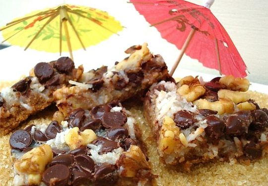 Vegan-ized Magic Cookie Bars (or Hello Dolly's to some)...YUM by either name!  will have to check this out... really?