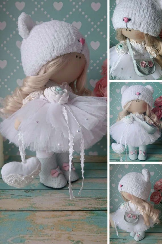 Fabric doll Handmade doll Rag doll Puppen by AnnKirillartPlace