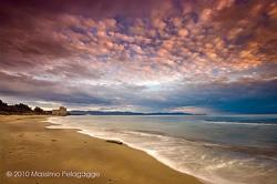 Beach sunset photos from Maremma Italy