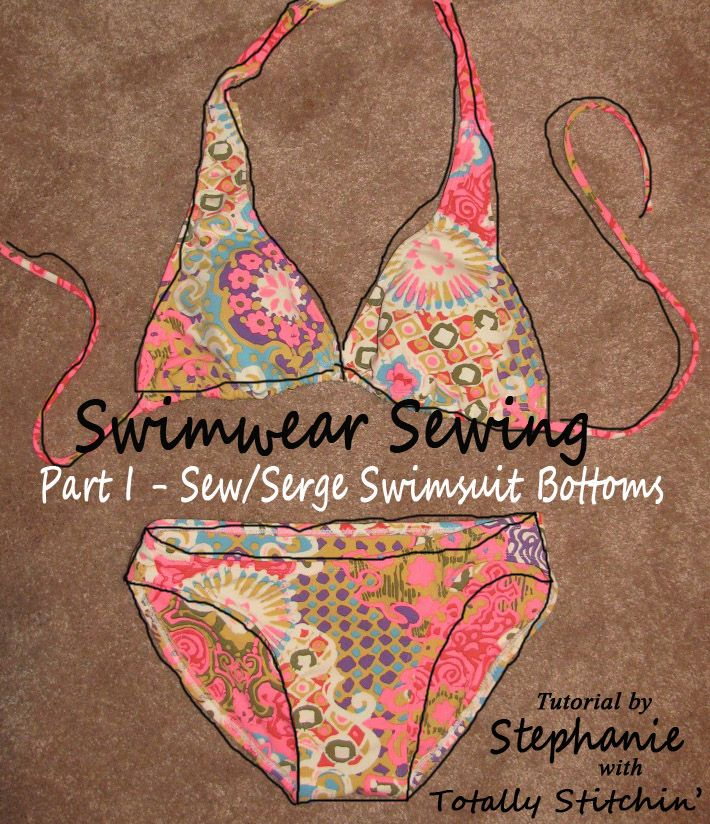 This year shall be the year to make a swimsuit! Follow along with Stephanie's tutorial at Totally Stitchin' on how to sew/serge a pair of swimsuit bottoms!