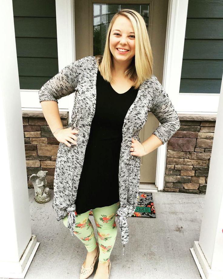 I love pairing all of my LuLaRoe with the Sarah Cardigan! It always just brings the pieces together! I also like knotting the ends for some variety!