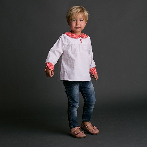 Like~Long Sleeved Top Pattern for Girls  Peter Pan Collar by tiedyediva, $7.95