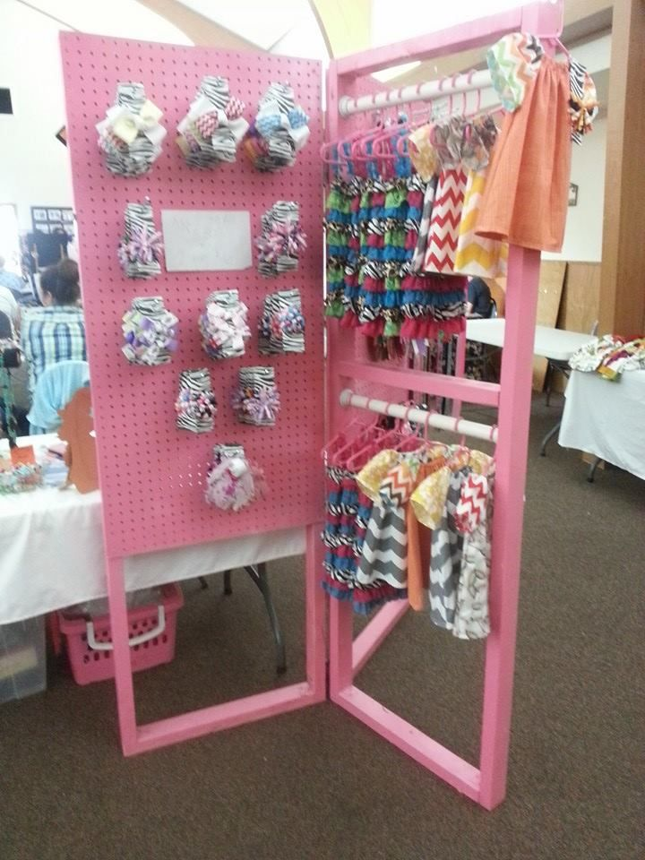 peg board display - excellent idea for those who do markets.