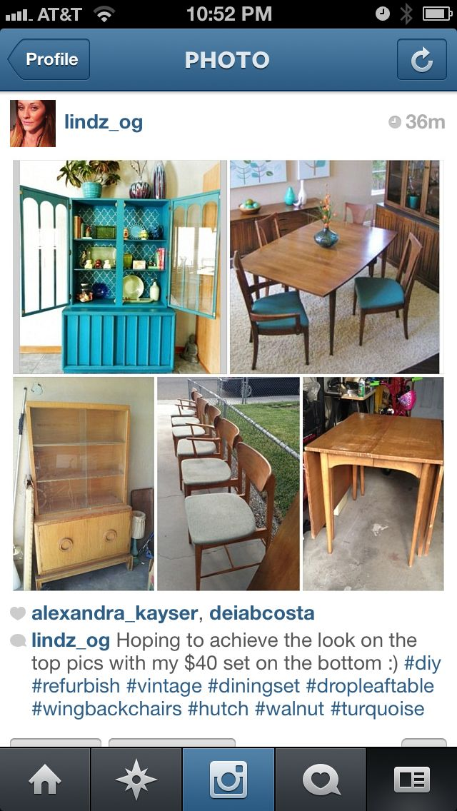 Projects: Americraft Hutch/china Cabinet, Sculptra Credenza, Koehler  Wingback Chairs, Drop