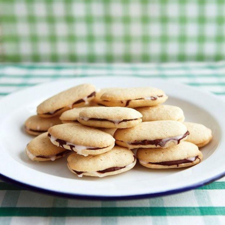 Mint-Chocolate Sandwich Cookies