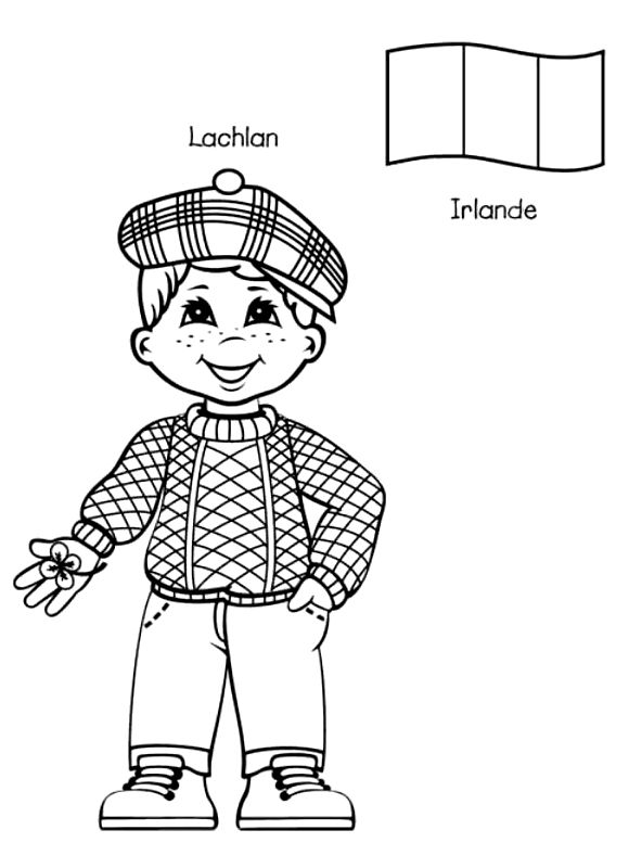 irish people coloring pages - photo#45