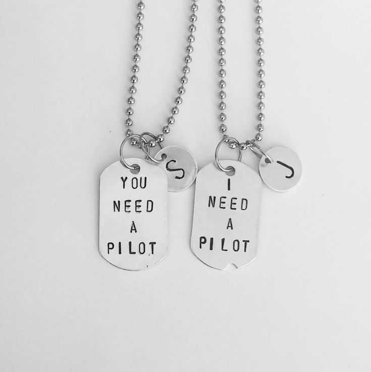You Need A Pilot. I Need A Pilot. - Finn - Poe Dameron - Star Wars The Force Awakens - personalized monogrammed Dog Tag Necklace by SaltedMelon on Etsy