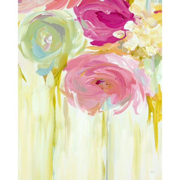 GreenBox Art Blush Bloom Canvas Painting