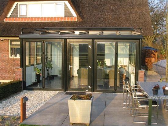 Jumbo terrasoverkapping aluminium - serre met glaswanden