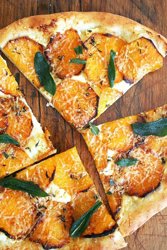 Squash, sage, parmesan flatbread.