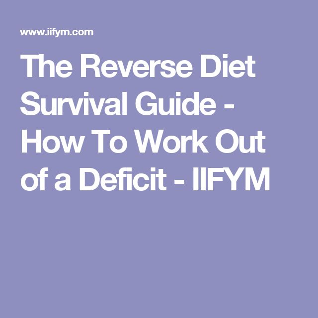The Reverse Diet Survival Guide - How To Work Out of a Deficit - IIFYM