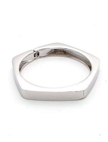Hexagon Basic bangle - Silver