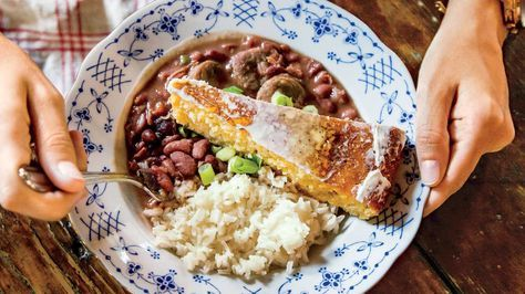 New Orleans Chef Alon Shaya might be the chef in the family, but he can't take credit for this meal's main event: wife Emily's red beans and rice. Her spicy, tender beans feed a large crowd, especially when served over fluffy, buttery rice.