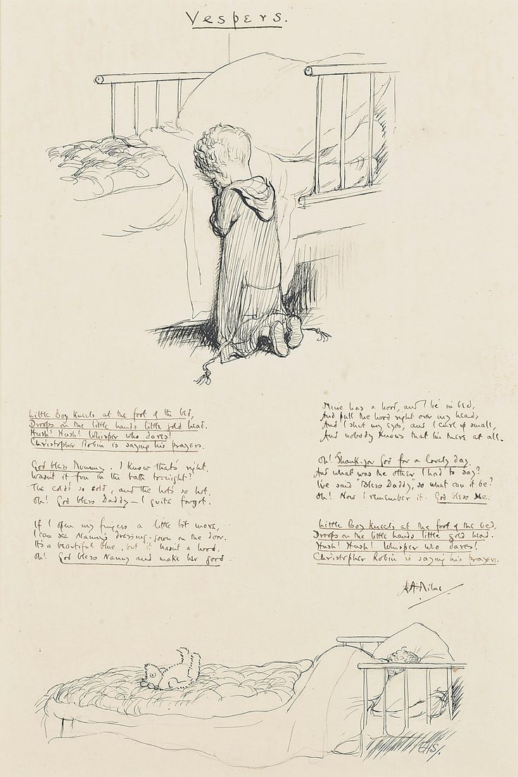 Manuscript featuring AA Milne poem and EH Shepard sketch to go on auction
