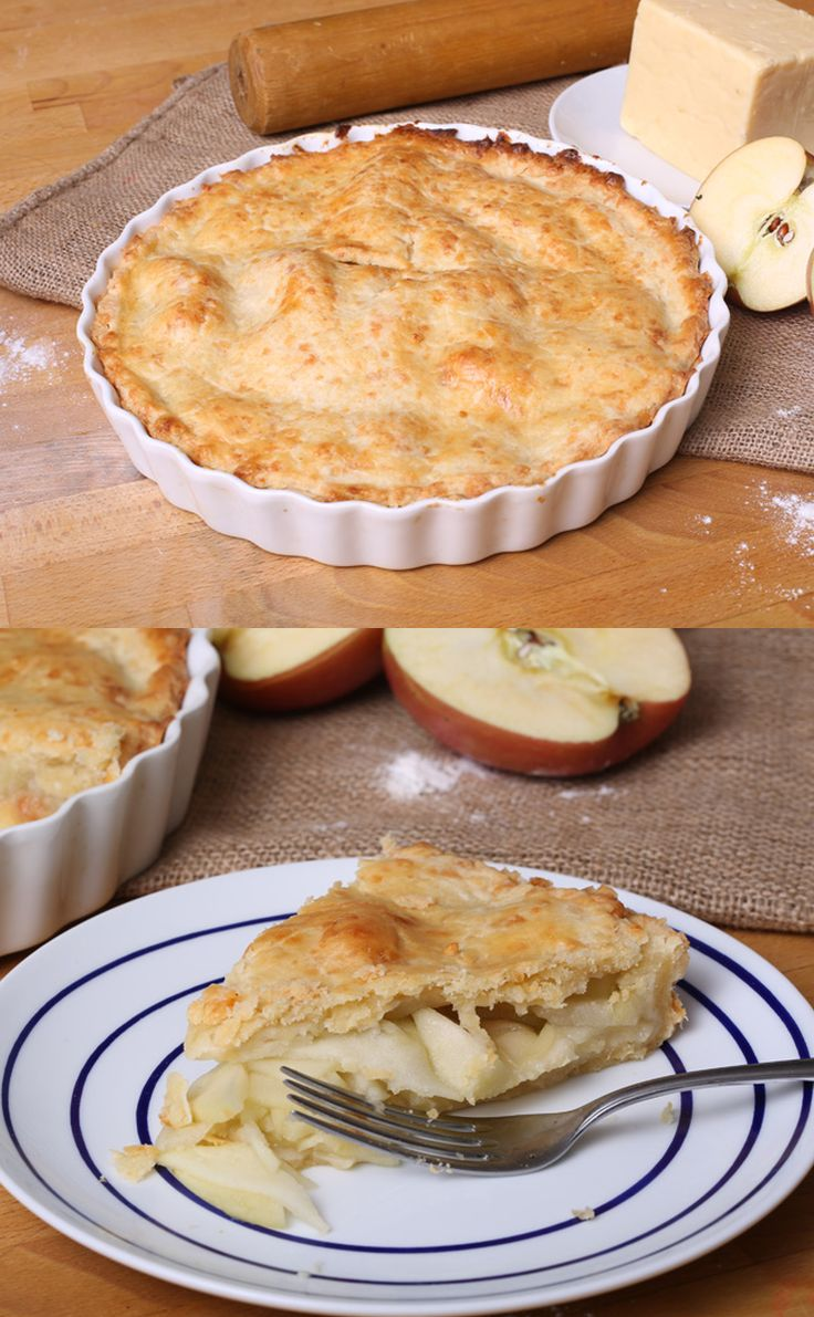 Apple pie with cheese filled crust :) #Thanksgiving #Desserts