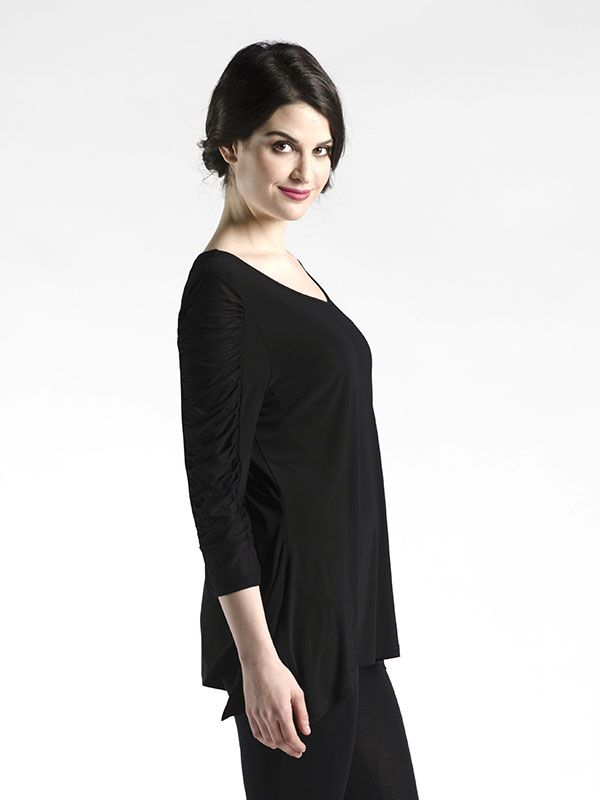 Stretch Sleeve Detail Top in Ruffle Sleeve