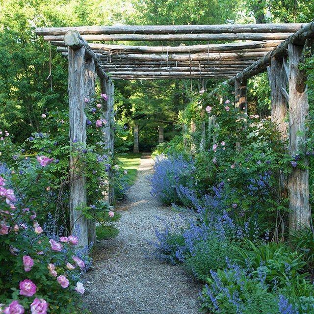 "2,654 Likes, 18 Comments - Garden Design Magazine (@gardendesignmag) on Instagram: ""Dreaming of summer days spent underneath this rustic arbor. Beautiful photo from @hoerrschaudt . .…"" #gardeningdesign"